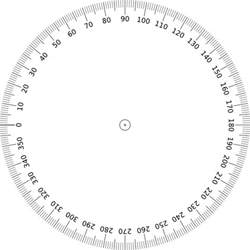 Circle Protractor Template by Printable 360 Protractor Igaging Digital Angle