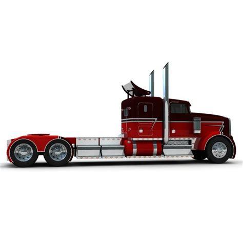 kenworth w900 model truck trailer w900 3d model