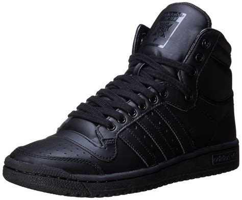 adidas mens top ten hi shoes black black c75323 ebay
