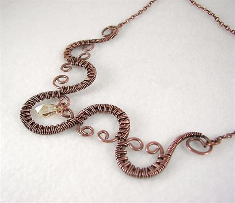 how to make copper wire jewelry copper wire woven necklace by desertshinejewelry on deviantart