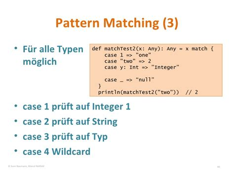 pattern matching empty string einf 252 hrung in scala im vergleich mit java