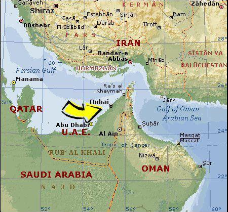 Dubai On World Map by Pics Photos Where Is Located Dubai