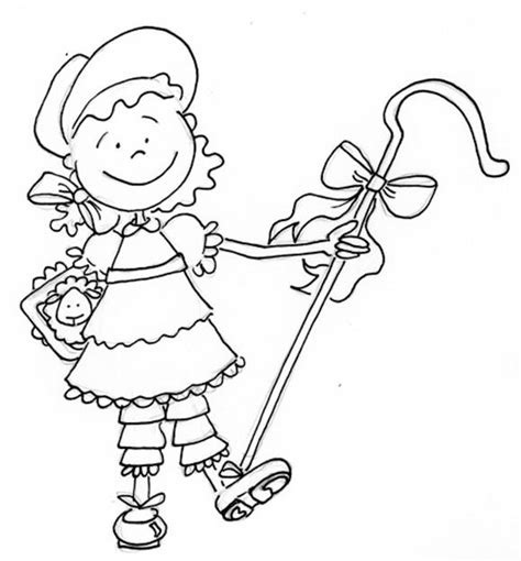 free coloring pages of little bo peep