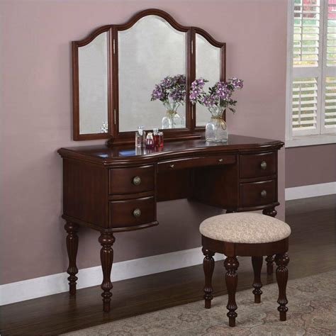 bedroom vanity dresser marquis cherry bedroom vanity makeup station table mirror stool furniture home ebay