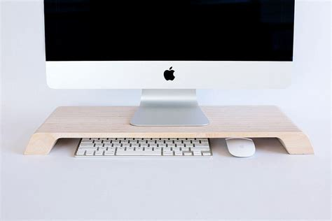 Mac Desk Accessories Beautiful Wooden Stand Elevates Your Imac Cult Of Mac