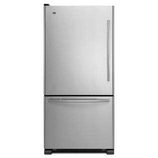 refrigerator with bottom freezer swing door maytag mb 21 9 cu ft bottom freezer refrigerator left swing door stainless steel