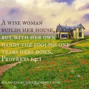 quot a wise builds up house but with own