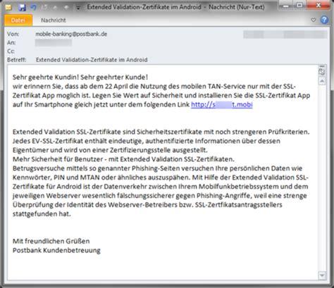 Bewerbung Als Email Versenden Text Banking Kunden Im Visier Schad App Hat Es Auf