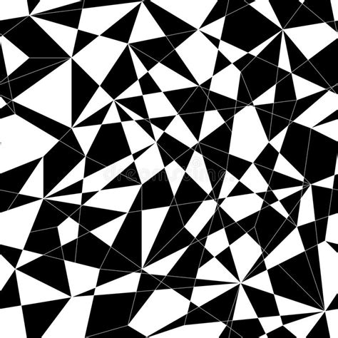 mosaic pattern black and white abstract mosaic pattern with triangles seamless vector