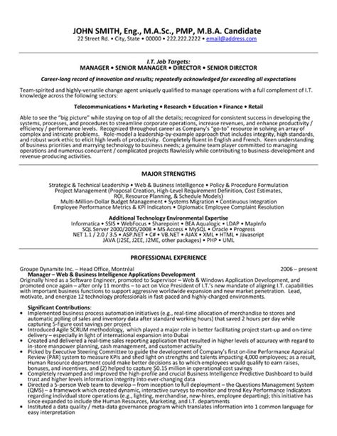 senior manager resume template senior manager resume template images frompo