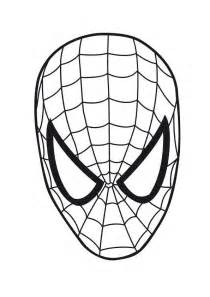 free coloring pages spiderman eye mask