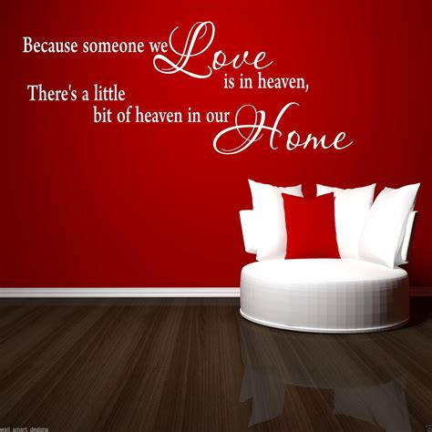 Wall Sticker Home 2 heaven home wall sticker lounge quote decal mural