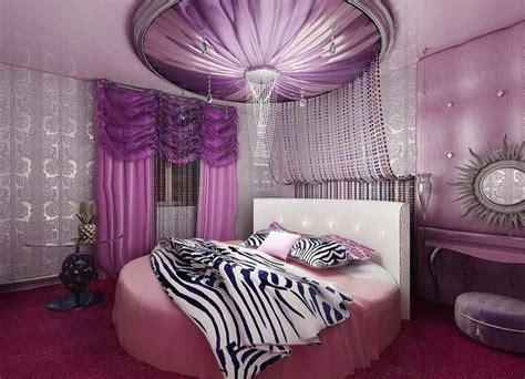 Luxury Pink luxury pink bedroom design combine with purple color for