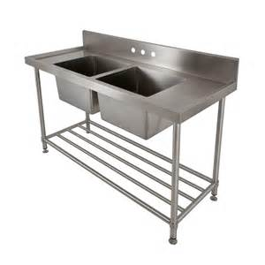 stainless steel bowl commercial console sink with