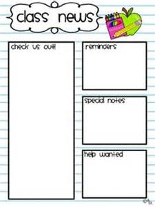 classroom newsletter templates free printable best photos of classroom newspaper template student