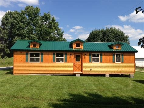 4 5 Bedroom Mobile Home Floor Plans by 14x40 Whitetail Modular Cabin Craftsman Exterior