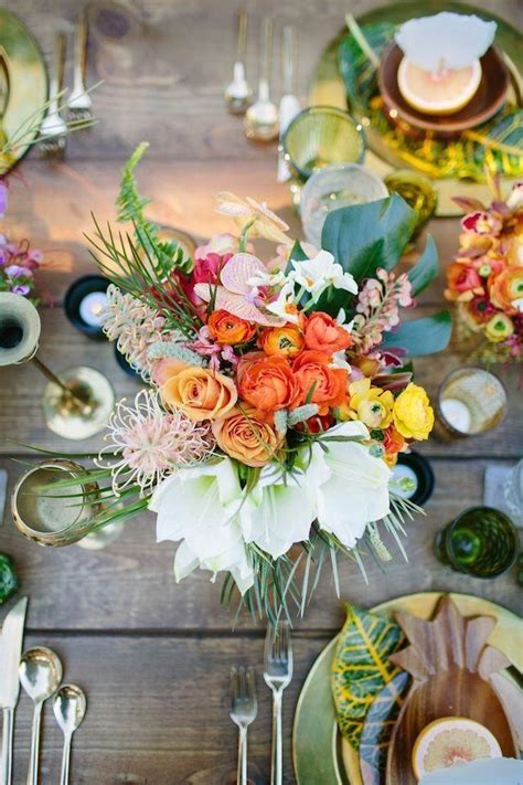 decor colorful and tropical wedding ideas 2580688