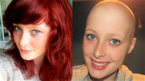 female headshave this month bbc news cornish teenager shaves head in memory of her