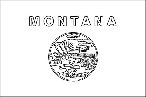 Montana State Flag Coloring Page montana flag coloring page purple
