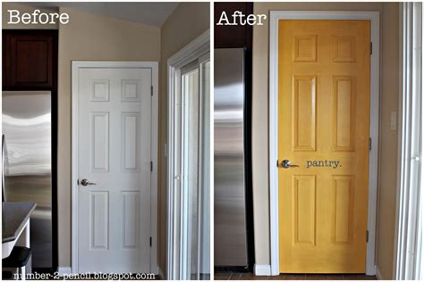 yellow pantry door makeover no 2 pencil