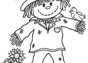 scarecrow coloring pages printable scarecrow coloring pages coloring me