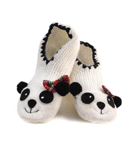 panda slipper socks womens novelty slipper socks panda reindeer ballet