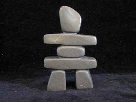 How To Clean Soapstone Carvings inuit soapstone carving signed simonie iqaluq depicting an inukshuk with label saanich