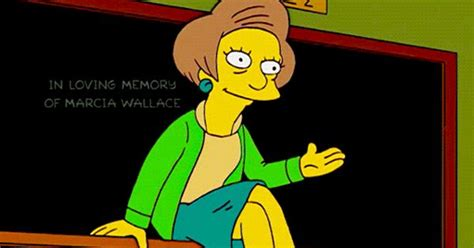 silly simpsons nerds voices and fan artthe simpsons new member tags the simpsons edna krabappel season