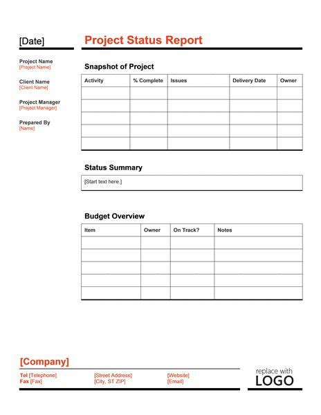 Excel Template Reporting Services Project Highlight Report Excel Template Ssrs Paul S