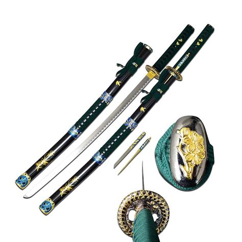 sword throwing wholesale green samurai sword 38 inch overall with