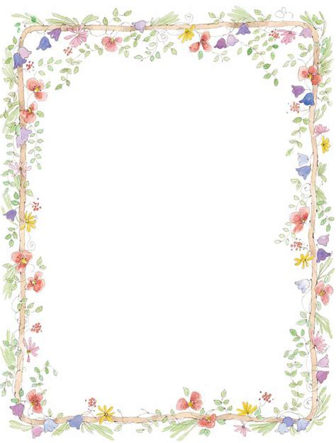 flower border template free page border templates cliparts co