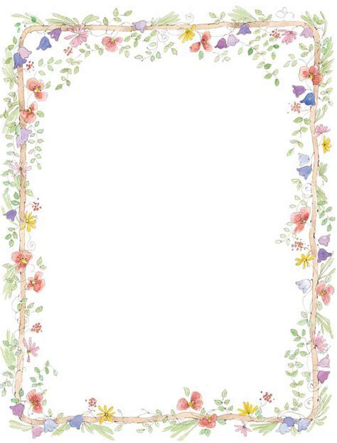 Flowers Blog » free borders flowers