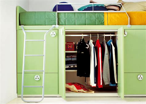 bunker bed with built in wardrobe storage bunk beds