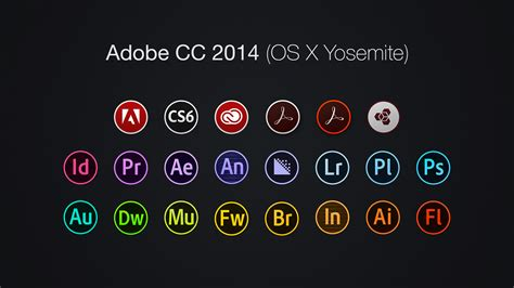 adobe illustrator cs6 os x yosemite adobe cc 2014 icons os x yosemite by baklay on deviantart
