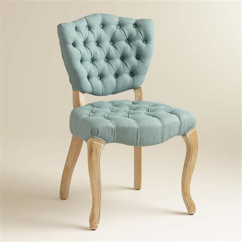Blue Tufted Armchair Blue Tufted Chairs Set Of 2 World Market