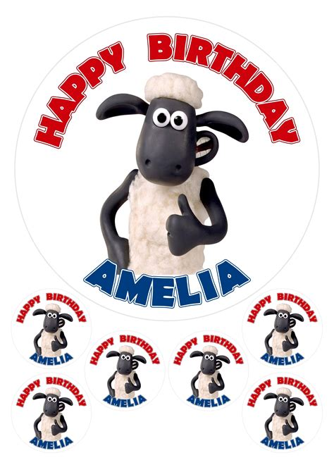 Shaun The Sheep 7 1 personalised shaun the sheep 7 5 quot 6 x 2 quot edible