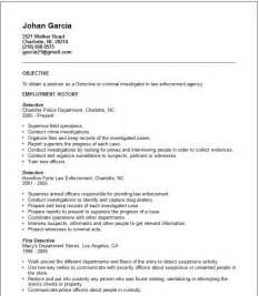 detective resume example free templates collection