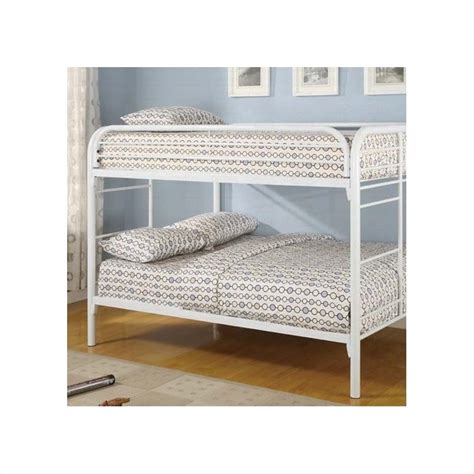 White Metal Bunk Beds Coaster Rustic White Metal Bunk Bed 460056w