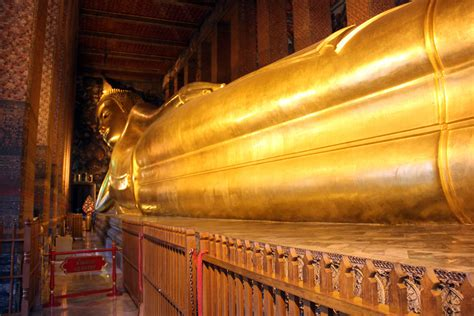 Reclining Buddha Temple Bangkok by Wat Pho Temple Of Reclining Buddha Thailand