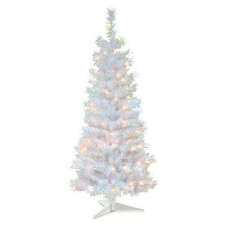 walnart 4 ft pre lit rose tinsel christmas tree 4 ft tinsel wrapped pre lit medium tree white