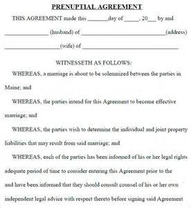 doc 400518 sle prenuptial agreements prenup form w prenuptial agreement sle template