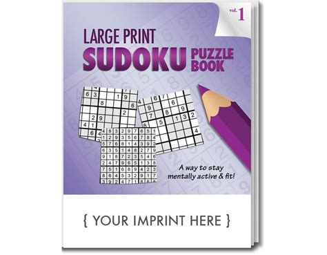 sudoku puzzle book large print for adults including easy medium expert books custom logo large print sudoku book promotion pros