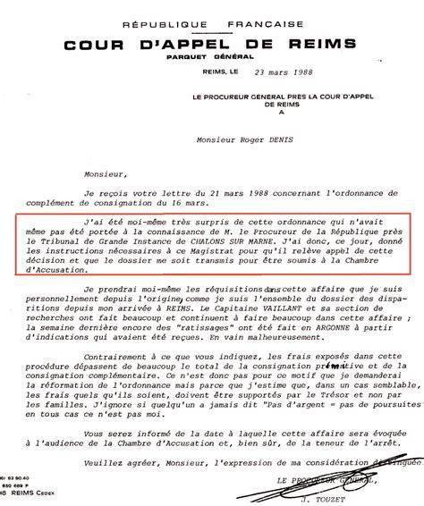 Exemple De Lettre De Demande Au Juge Disparus De Mourmelon Courriers