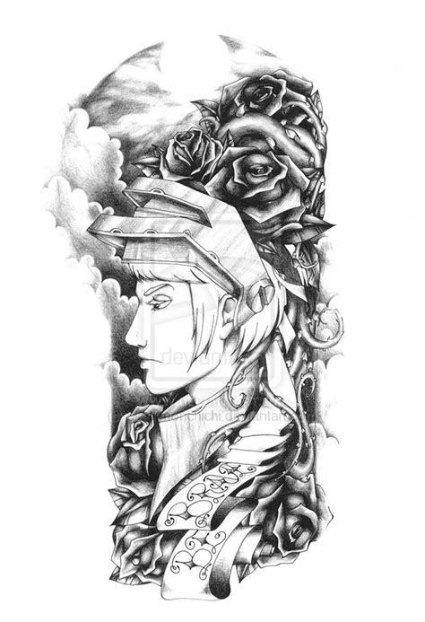 fantasy sleeve tattoo designs simson