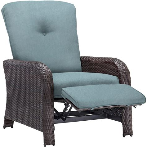 hton bay club chair blue seat and back