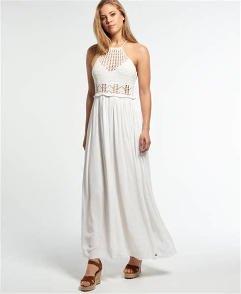 Robe Longue Crochet - superdry robe longue en crochet isla robes pour femme