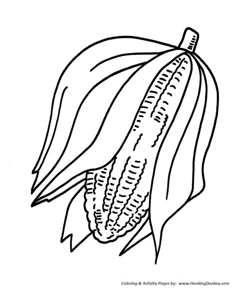 indian ear corn coloring pages
