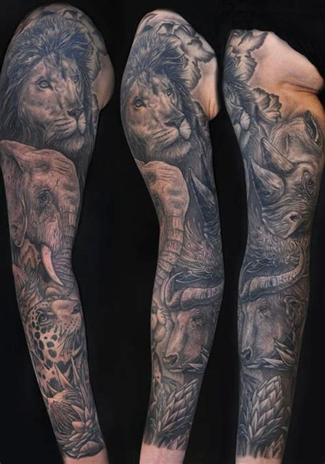 african tattoo sleeve designs africa s big 5 tattoos