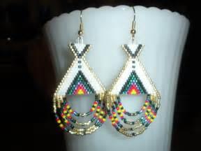 beaded earring beaded earrings teepee american