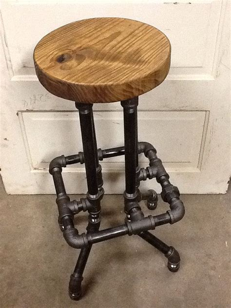 Industrial Bar Stool by Industrial Bar Stool With Top By Sawdustindustries